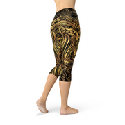 Womens Ornament Owl Legging-Just Women Leggings