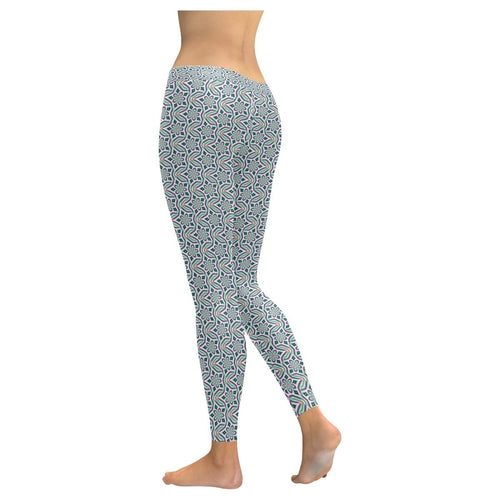 Blue Floral Legging 2021-Just Women Leggings