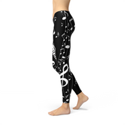 Womens Piano Black Legging-Just Women Leggings