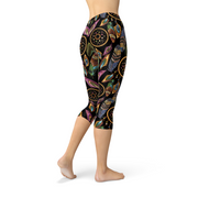 Womens Dreamcatcher Capri Legging-Just Women Leggings