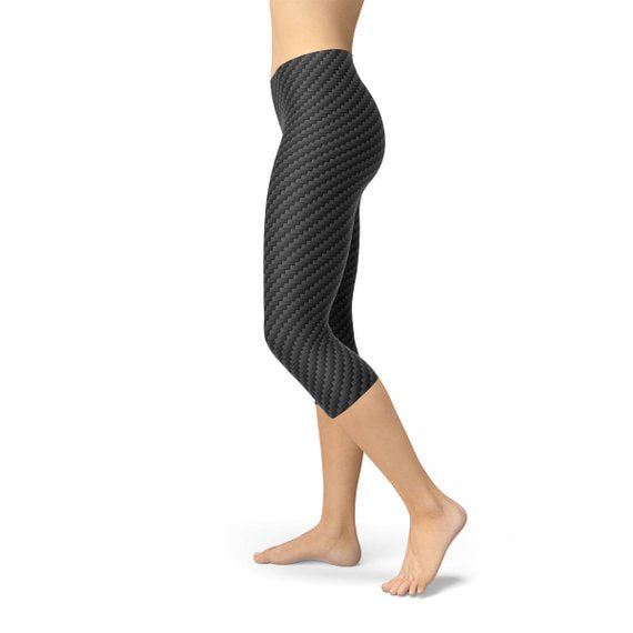 Carbon Fiber Capri Legging-Just Women Leggings