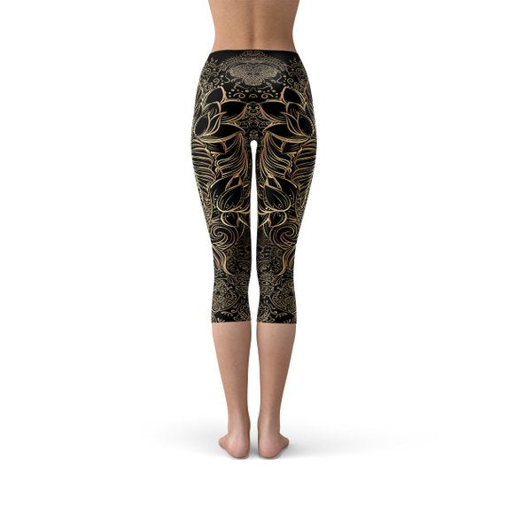 Womens Koi Fish Capri Legging-Just Women Leggings
