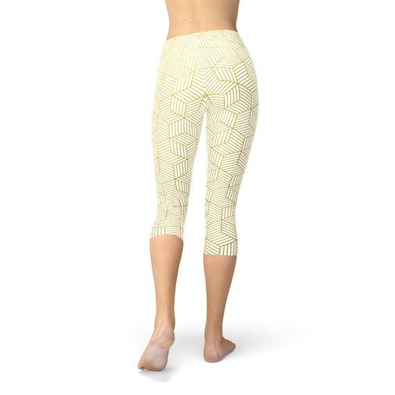 Womens White Capri Legging
