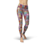 Jean Abstract Squares Leggings