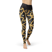 Jean Gold Chains Legging-Just Women Leggings