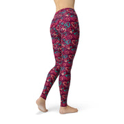 Jean Magenta Hearts Leggings-Just Women Leggings