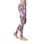 Jean Pink Charcoal Marker Legging-Just Women Leggings