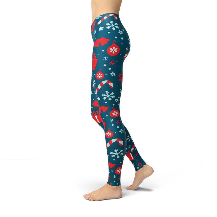 Jean Presents and Snowflakes Leggings