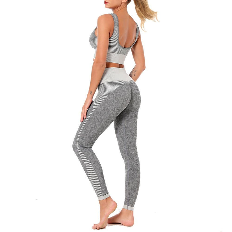 Yoga Set Sports Bra and Legging-Just Women Leggings