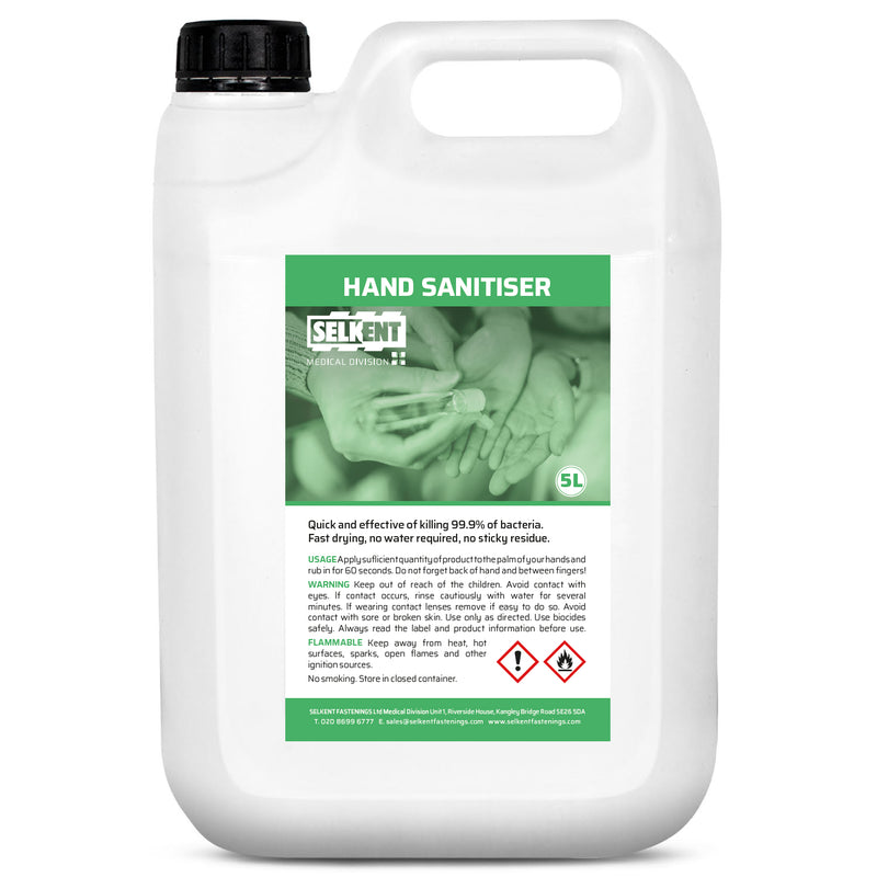 70% ALCOHOL HAND SANITISER GEL 5LTR