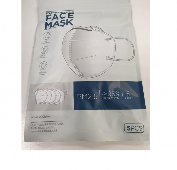 DISPOSABLE FACE MASK 5 LAYER PROTECTION