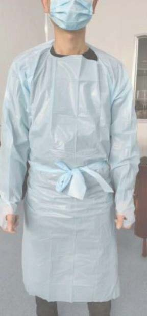 CPE FLUID REPELLENT SURGICAL GOWN LONG SLEEVE & THUMB LOOP
