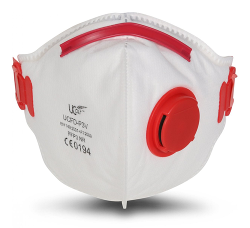 FFP3 VALVED RESPIRATORY MOULDED FACE MASK PACK 10