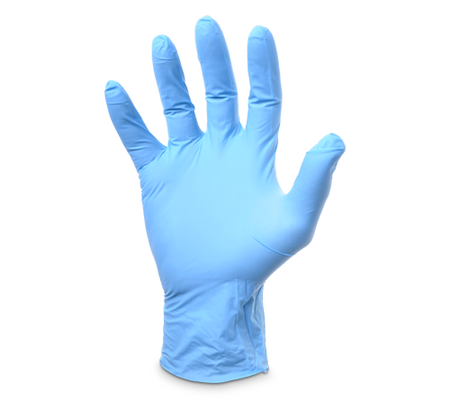 POWDER FREE BLUE NITRILE DISPOSABLE GLOVES (100 PK)