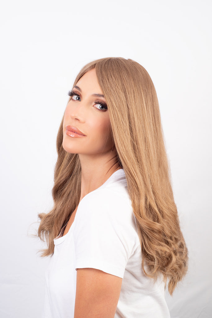 Champagne Blonde with Ash Tones - 100% Human Hair Wig