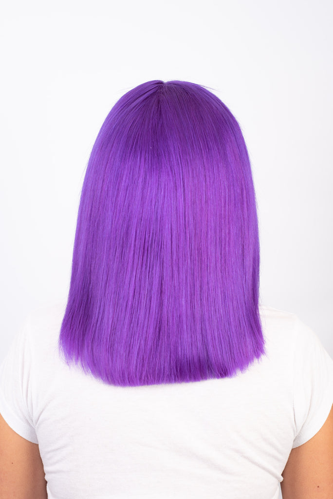 Deep Purple Medium Length - 100% Human Hair Wig