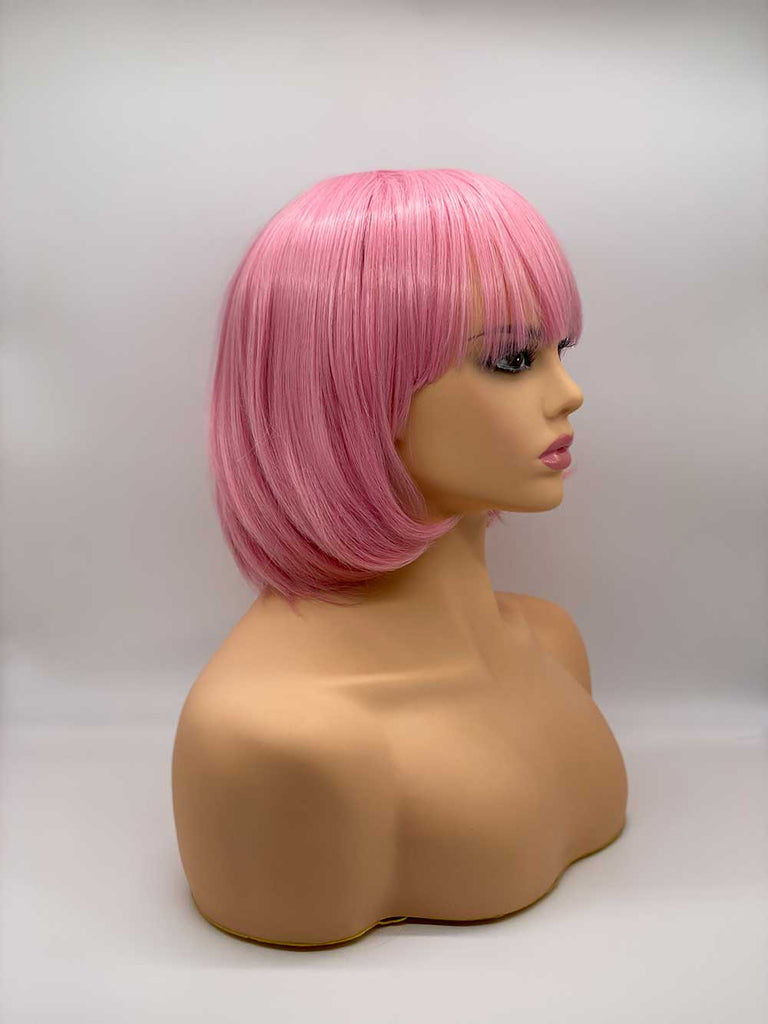 Pink Classic Bob - Synthetic Wig