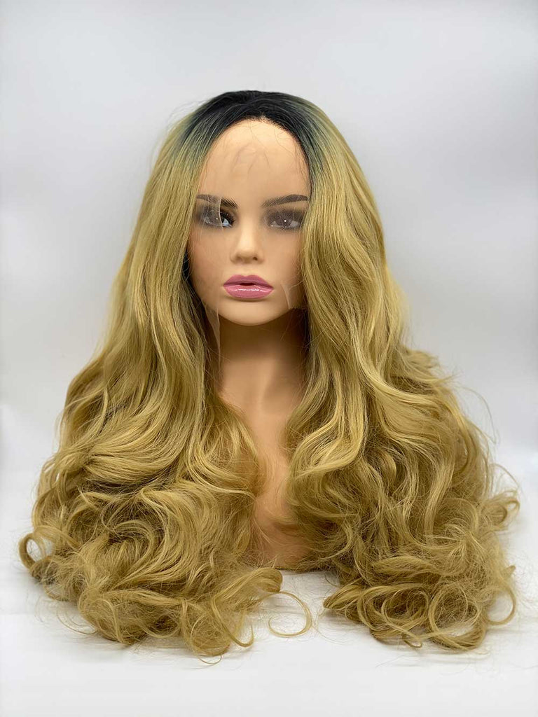 Blonde Rooted Wave - Lace Front Synthetic Wig