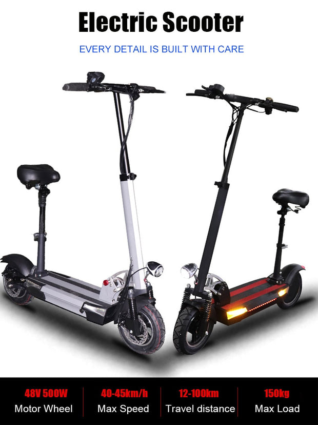 48v 500w Adult Electric Scooter with seat Over than 100km long distance foldable.