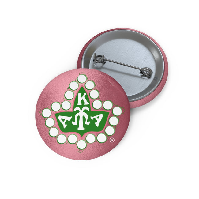 Alpha Kappa Alpha Custom Pin Buttons