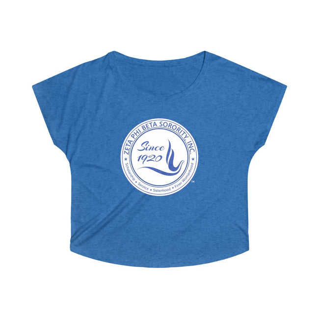 Zeta Phi Beta Sorority Dove Tri Blend Dolman
