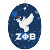 Zeta Phi Beta Oval Ornaments - Unique Greek Store