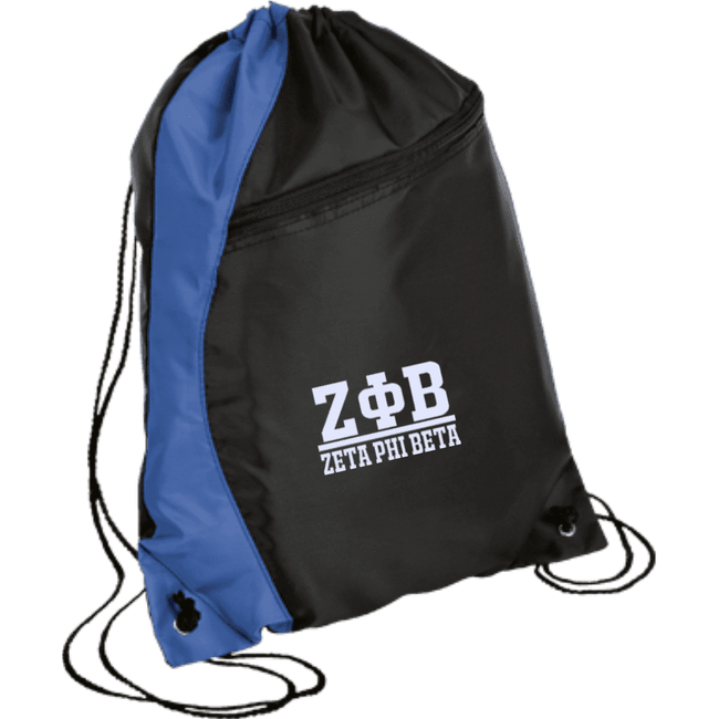 Zeta Phi Beta Colorblock Cinch Pack - Unique Greek Store
