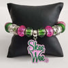 Alpha Kappa Alpha Skee Wee Bangle Jewelry Bracelet