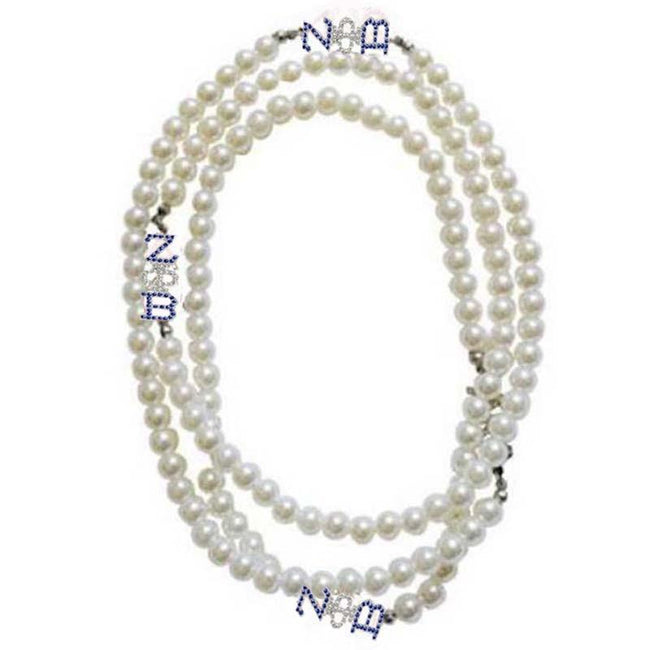 Zeta Phi Beta Multilayer Pearl Necklace Set B