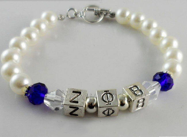Zeta Phi Beta Pearl Bracelet - Unique Greek Store