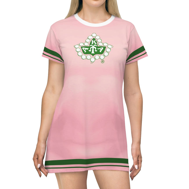 Alpha Kappa Alpha All Over Print T-Shirt Dress