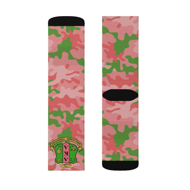 Alpha Kappa Alpha Sublimation Socks