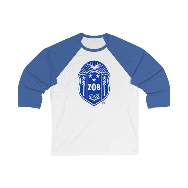 Zeta Phi Beta 3/4 Sleeve Baseball Tee