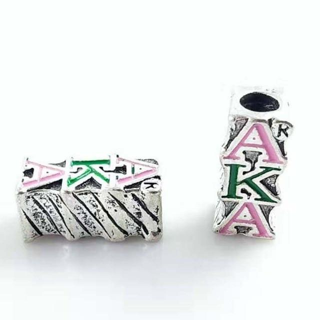 Alpha Kappa Alpha Big Hole Beads Pendant