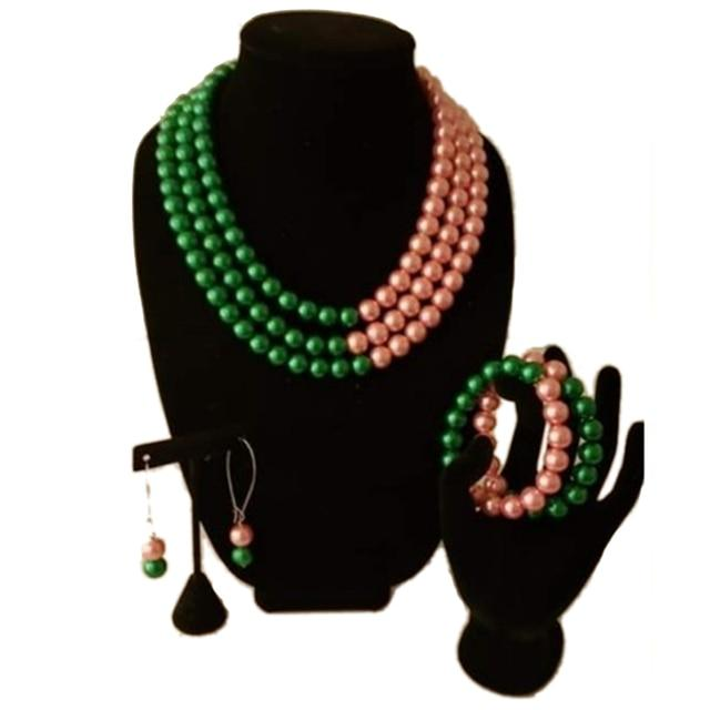 Alpha Kappa Alpha Pearl Jewelry Set