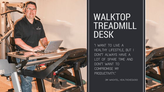 Walktop, treadmill desk, sitting disease, walking, working, health, wellness, workplace wellness, productivity,