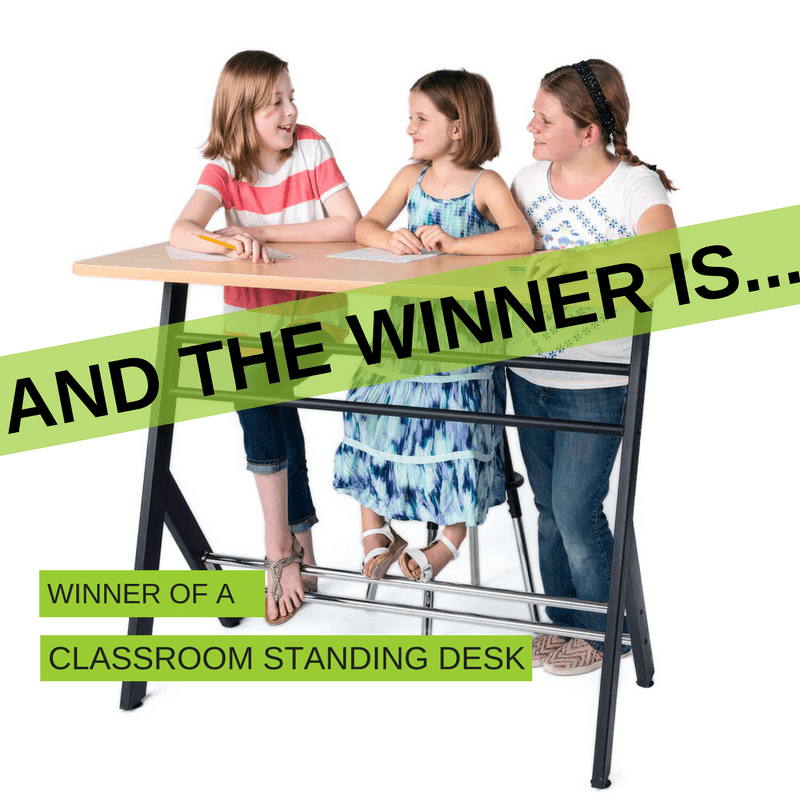 Winner of the classroom standing desk contest