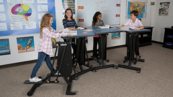 KidsFit Strider Desk for movement in the classroom from Fitneff..