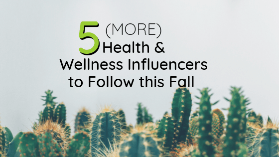 5 Health and Wellness Influencers To Follow This Fall