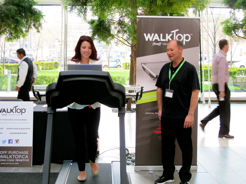 Fitneff to Demo the WalkTop Treadmill Desk in Downtown Calgary May 13-14, 2015
