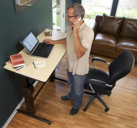 Standing desk in home Fitneff Canada