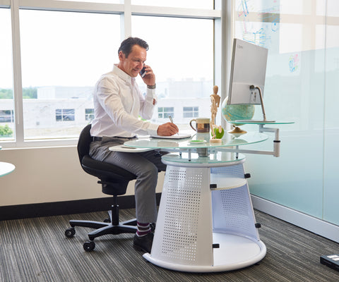 sitting at desk, core chair, core chair stool, sitting abs, active seating, active chair