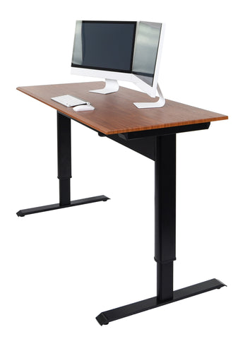 Luxor Pneumatic Adjustable Height Standing Desk, Sit-Stand. Fitneff Canada