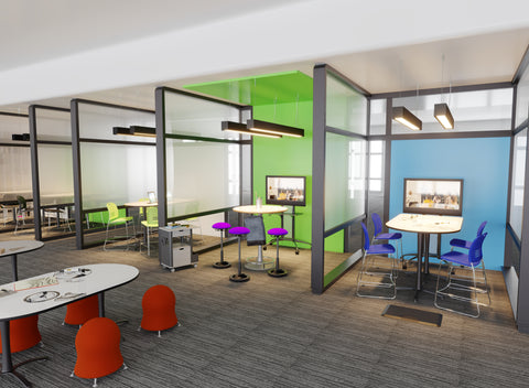 active learning, active seating, perching, dream classroom, dream office, active office