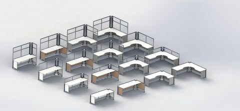 Foldable storable mobile desks Fitneff Canada