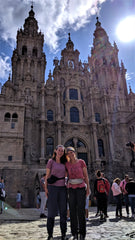 el camino pilgrimage, mother daughter, hiking, travel spain, cathedral