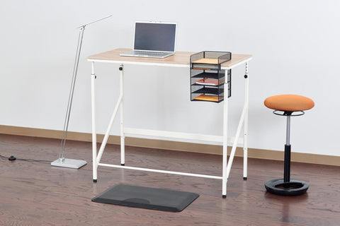 minimalist desk, minimalism desk, minimalism, minimalism workspace, wireless headphones, minimalist set up, standing desk, sitstand desk, safco standing desk
