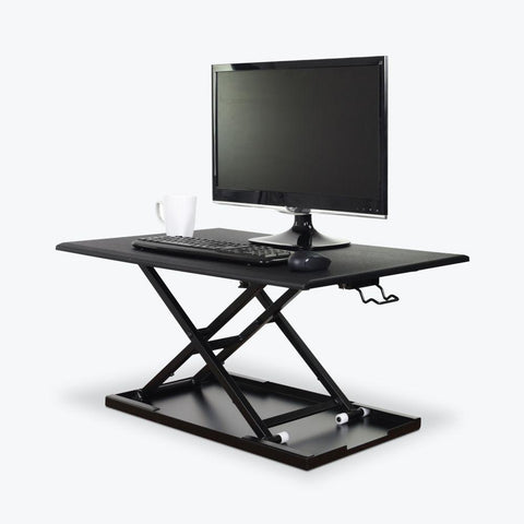LUXOR Level Up Pneumatic Sit-Stand Desk, Fitneff Canada