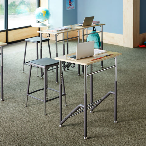 stand2learn desk, standing classroom, standing desk for kids, childrens standing desk, sit stand desk classroom