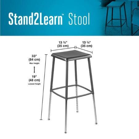 Product dimensions VARIDESK Stand2Learn Stool Fitneff Canada